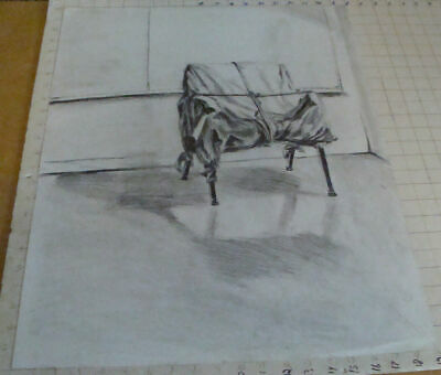 Christo's wrapped chair Drawing not signed 60 X 48 cm