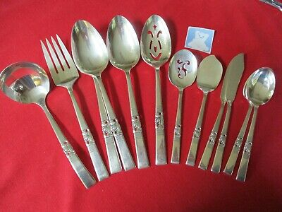 (12) Oneida Community Silverplate Serving Pieces, 1948 Morning Star   #4