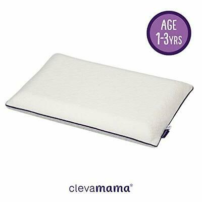 ClevaMama ClevaFoam Toddler Pillow, Breathable and Anti-Allergy, Correct...