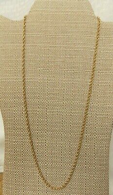 "14 Kt Gold Rope Chain Necklace  24""L 8.4 gr"