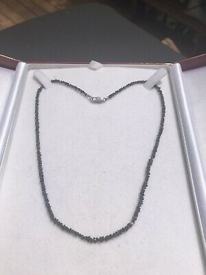 18kt Rough Black Diamond Necklace-24 Carats-$8,000 Appraisal Included