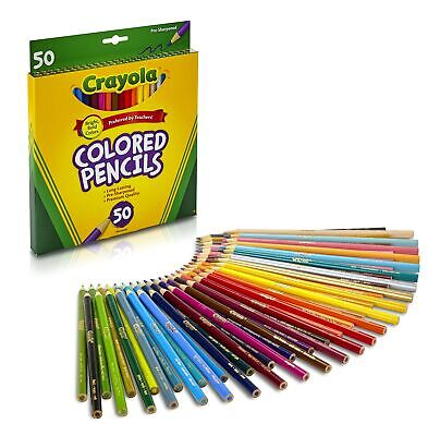 Crayola Colored Pencils Art Tools 50 Count Perfect for Art Proj... FREE SHIPPING