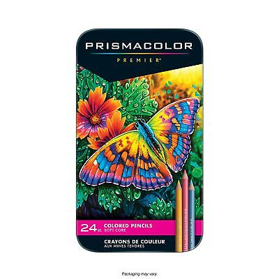 Prismacolor Premier Colored Pencil Set 24/Tin FREE SHIPPING