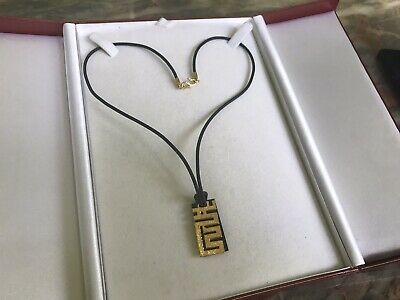 24kt Yellow Gold Modern Dragon/Black Onyx Pendant Necklace