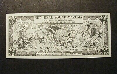 *c.1936 ANTI-FRANKLIN D. ROOSEVELT / ALF LANDON CAMPAIGN DOLLAR BILL – NEW DEAL*