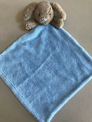 """Blankets & Beyond 14"""" Puppy Security Blanket Blue Tan Puppy Dog HTF Lovey"""