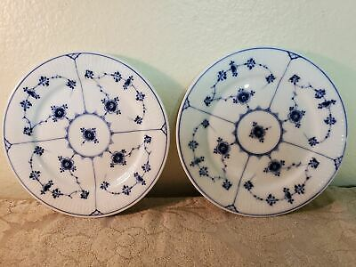 "2 Royal Copenhagen blue fluted 7.5"" salad plates"