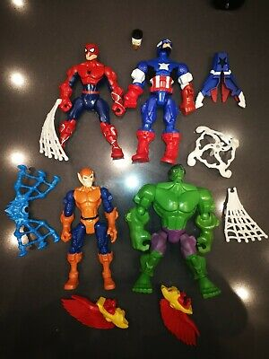 Marvel Avengers Super Hero Mashers Action Figures Bundle by Hasbro Lotto 4