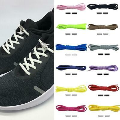 Kids Adults Elastic Silicone Lazy Laces Shoelaces Sports Trainers Shoes Rope