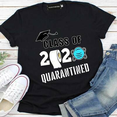 Womens Class of 2020 Quarantined T-shirt Holiday Summer Casual Tops Girls Tops