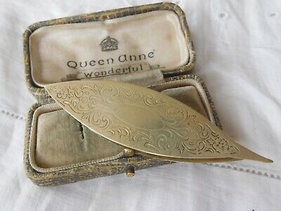 Lovely Victorian Sterling Silver Sewing TATTING Shuttle