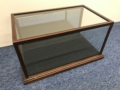 Antique Dark Wood Frame And Glass Display Box