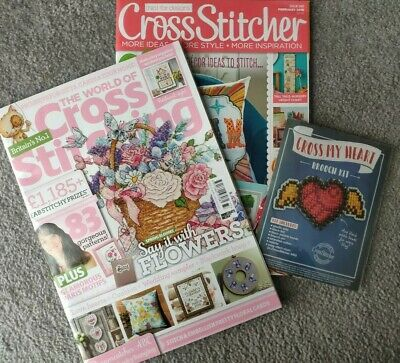The World of Cross Stitching no 277 & Cross Stitcher Issue 340 With 1 Free Gift