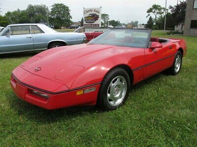 1988 Chevrolet Corvette  1988 Corvette Convertible - One Owner - Red/Red/White - 89K Miles - Very Clean
