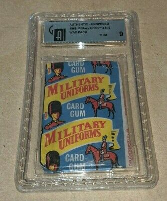 1968 Chix Military Uniforms Vintage RARE Trading Card Unopened Pack GAI 9 MINT