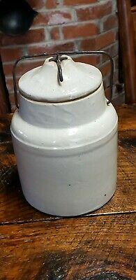 Antique WEIR CANNING CROCK with Lid Late 1800s Early 1900s