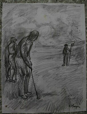 A Game Of Golf By Edward Morgan - Artist And Illustrator - Roundism
