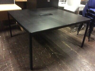 Black Square Office Desk or Meeting Table