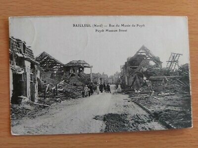 Bailleul  Nord Rue Du Musee Du Puydt  22/08/1919