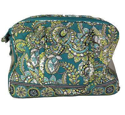 VERA BRADLEY Pet Carrier Tote Travel Luggage Size S/M Turquoise Green Paisley