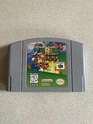 Nintendo N64 Game Super Mario 64 Video Cartridge Cleaned And Tested Works Great