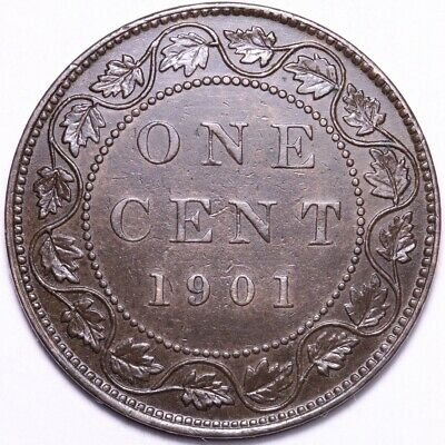 1901 Canada Large One Cent Mid-Grade Coin FREE SHIPPING A1
