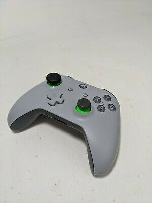 Microsoft Xbox One Wireless Controller Genuine (Gray/Green) Lft Joystick No Rubb