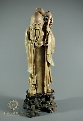 Excellent Quality Antique Chinese Carved Soapstone Figure