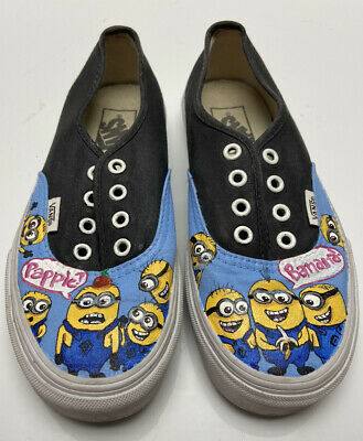 Vans Off the Wall Skateboard Shoe Mens Size 4 Hand Painted Minions Despicable Me