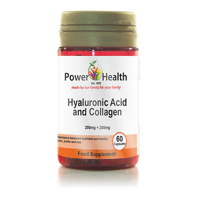 Hyaluronic Acid and Collagen | 200mg | 60 Capsules | Healthy Skin Joints & Hair