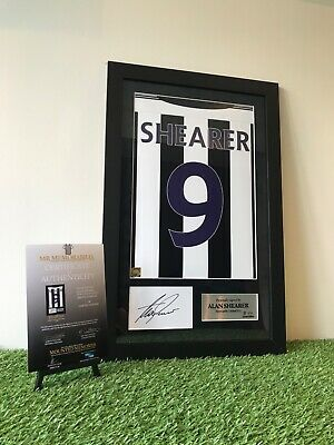 Authentic hand signed Alan Shearer Newcastle United F.C. 03/05 Home shirt Print