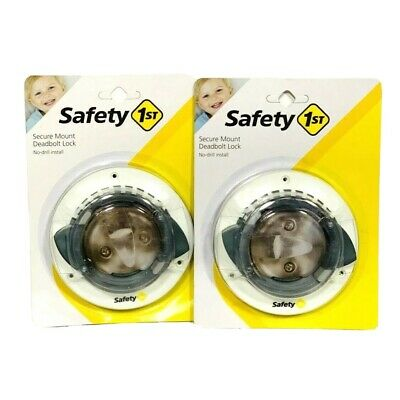 Safety 1st Secure Mount Deadbolt Lock HS162 Childproof No Drill Install Set Of 2