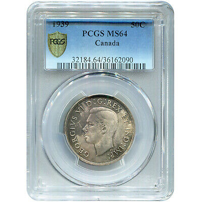 Canada 50 Cents Silver 1939 MS64 PCGS