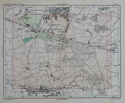 Shooters Hill 1896 London repro 12-NE East Wickham Plumstead Old map Woolwich