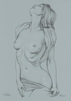 original drawing A3 241MS art by samovar woman nude sketch pastel 2020