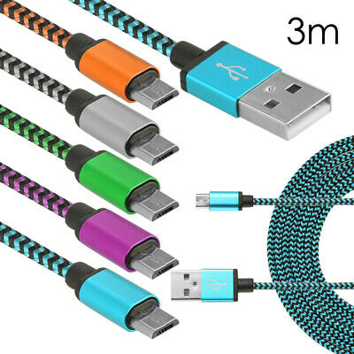 Compatible with Bose QuietComfort 35 DURAGADGET Silver Nylon Braided 3M Micro USB Data Sync Cable