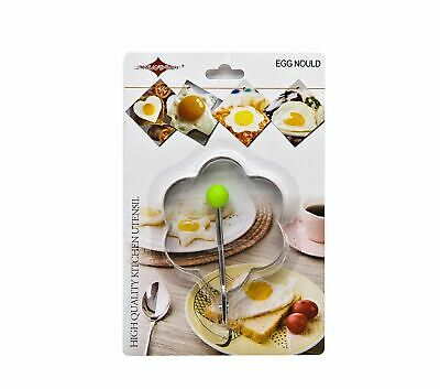 Stainless Steel Fried Egg Mould Pancake Ring, Flower - Pack of 2