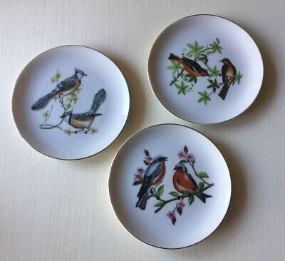 Vintage Chadwick Miller Set Of 3 Collectible Bird Plates