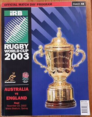 Rugby Union World Cup Final Program 2003 Australia V England - Perfect Condition