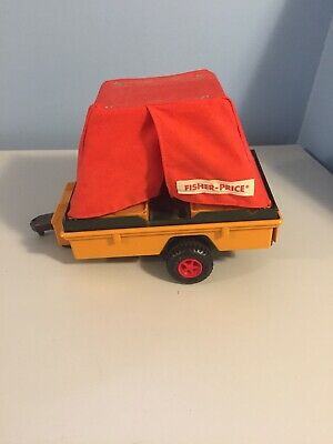 Vintage 1976 Fisher Price Adventure People Safari Tent Trailer!!  As Pictured!!