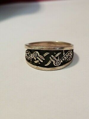 925 Mens Silver Ring Size 10