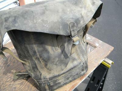 Vintage US Military Rubberized Backpack Bag~WW 2 Era~Water Chemical Proof~Dive