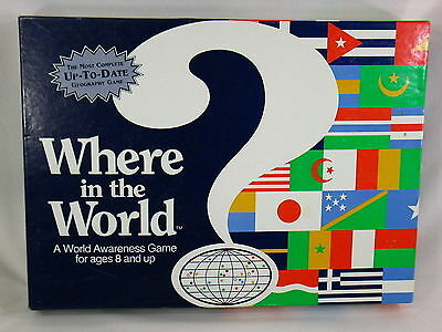 Where in the World 1993 Board Game Geography Social Studies Aristoplay
