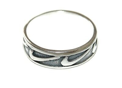 Artisan Sport Band Ring Sterling Silver Nike Logo Just Do It US Size 10 Jewelry