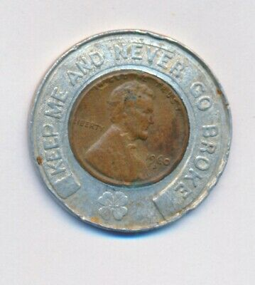 1960 D Lincoln Cent Encased Good Luck Claron Shoes Springfield, Mo
