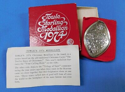 1974 Towle Sterling Silver 4 Calling Birds Christmas Ornament -Estate- G200