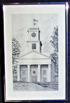 Retro Amherst College - Johnson Chapel Limited Edition Signed Print #40/400