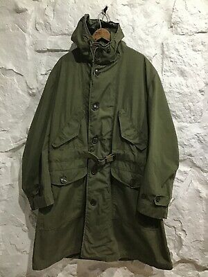 Vintage 1940's WWII U.S. Army Belted OVERCOAT Jacket size Large