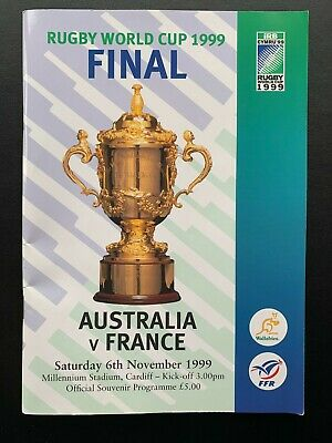 AUSTRALIA v FRANCE 1999 WORLD CUP FINAL PROGRAMME AND TICKET
