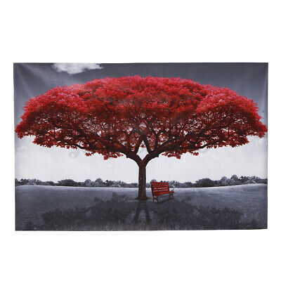 Large Red Tree Canvas Print Painting Art Picture Wall Home Decor Unframed